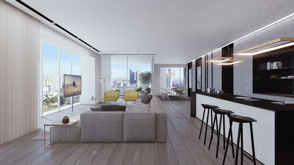 דירה למכירה במגדל בית ליסין